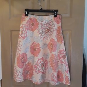 New York & company skirt A Line size 6 floral